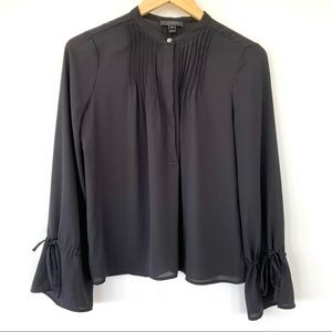 J. Crew black blouse with bell sleeves